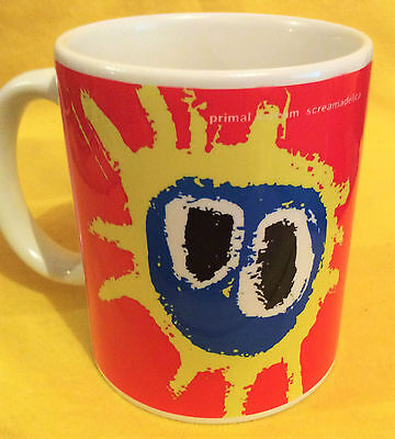PRIMAL SCREAM SCREAMADELICA 1991-ALBUM COVER- ON A MUG