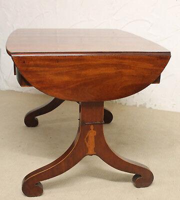 Schreibtisch Flammenmahagoni Biedermeier um 1840 antik