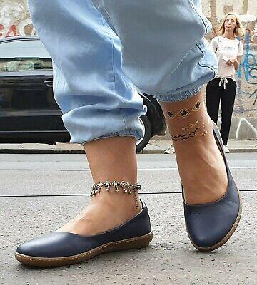 Ocean Leder Schuhe (EL NATURALISTA Lederschuhe 5300 Coral Dolce ocean blau Ballerina Wechselfußbett )