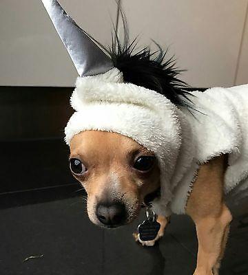 Hund Kostüme Einhorn (Chihuahua Hundekostüm Einhorn Kostüm Selfmade Unikat)
