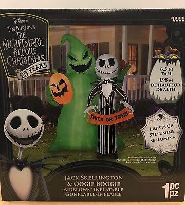 Nightmare Before Christmas JACK SKELLINGTON & OOGIE BOOGIE  Airblown Inflatable