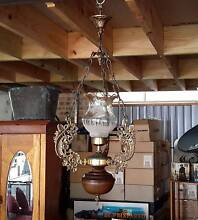 Vintage Brass & Bakelite with Frosted Lightshade Ceiling Light Mount Colah Hornsby Area Preview