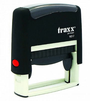Cheque Stamp - Self Inking Rubber Stamp Traxx 9017 - 50 X 10mm