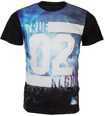 True Religion Mens T Shirt Concert Sublimation Graphic Jet Black  79 Jeans Nwt