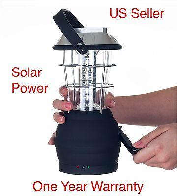 L02 Hot Alfresco Solar Powered Bright 36LED Hand Crank Camping Lantern Light Lamp
