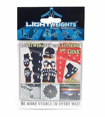 Lightweights Reflective Safety Dots Stickers for Clothing, 60 Pieces, White