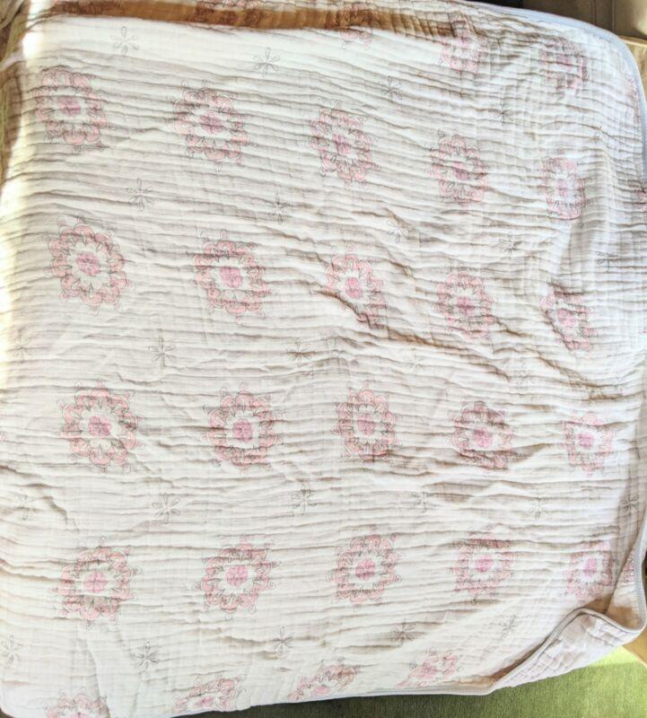 Aden + Anais 4 Layer Dream Blanket Pink Floral Mandala Geometric Retired