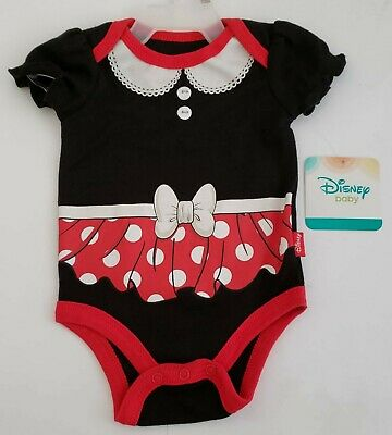 Baby Costumes 0 3 Months (NEW Disney Baby 0-3 Months Minnie Mouse Creeper Bodysuit)