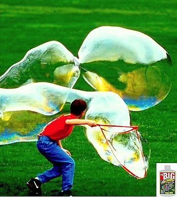 Bubble Thing Big Bubbles Wand And Mix   Blow 20 Foot Soap Bubbles