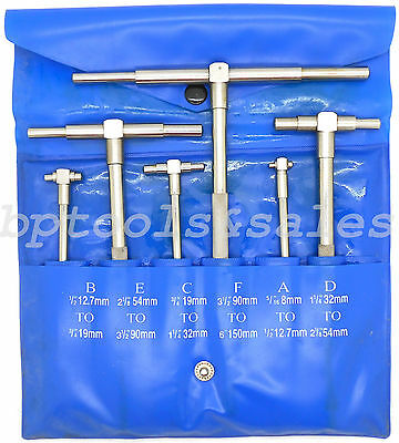 6pc Telescoping Gage Set 516 - 6 Range Super Precision T-bore Hole Gauges