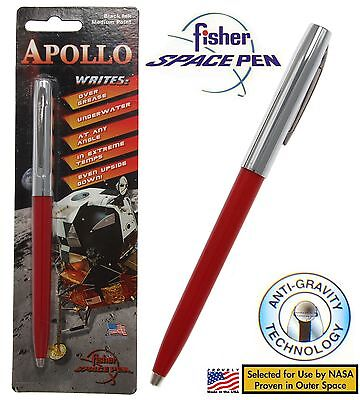 Fisher Space Pen #S251-RED / Apollo Series Pen in Red & Chrome