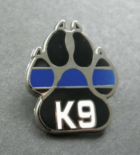 POLICE DOG PAW K9 K-9 LAPEL PIN BADGE 7/8 x 1.1  INCHES