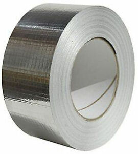 50mm Eco Foil Self Adhesive Aluminium Silver Heat Reflecting DIY Insulation Tape