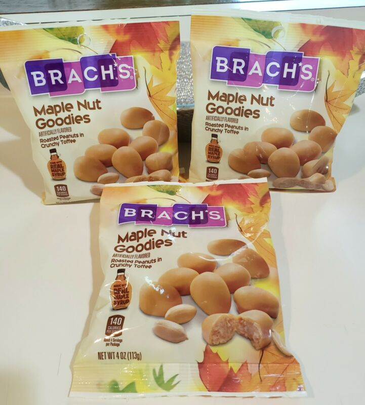 Brach's Maple Nut Goodies Roasted Penuts *Lot of 3 bags*