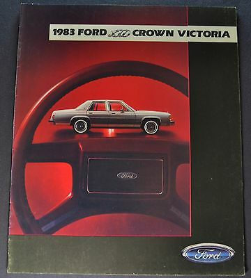 - 1983 Ford LTD Crown Victoria Brochure Country Squire Wagon Excellent Original
