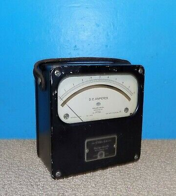 Roller-smith Steel-six Analog Dc Amperes Meter 0-10 Amps Free Shipping