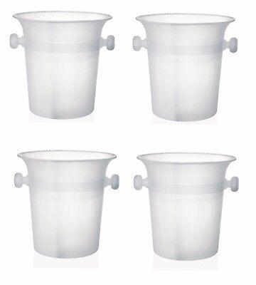 4 Stück Flaschenkühler, Weinkühler, Sektkühler, 20,5 cm Ø, 4,0 Liter Inhalt