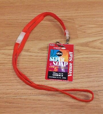 Disney MGM Studios November 2006 ABC Super Soap Weekend Venue Staff Card Lanyard