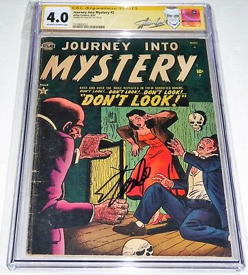 Journey Into Mystery #2 CGC SS Signature Autograph STAN LEE Pre Code Horror RARE