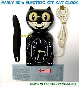 early 1950 039 s original allied kit cat klock kat clock electric vintage works usa ebay. Black Bedroom Furniture Sets. Home Design Ideas