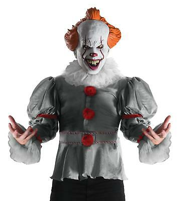 Pennywise The Clown Costume (IT the Movie 2017 Version Deluxe Pennywise Clown Adult Costume with Mask)