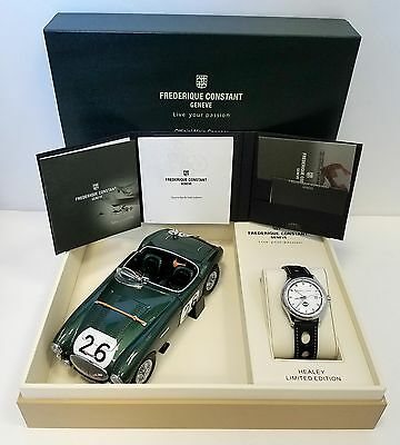 FREDERIQUE CONSTANT VINTAGE RALLY HEALEY GMT WATCH FC-350HS5B6 NEW!!!!