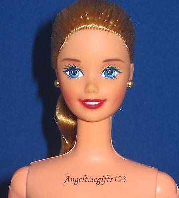 Nude Barbie long golden blonde braid superstar face sculpt blue eyes