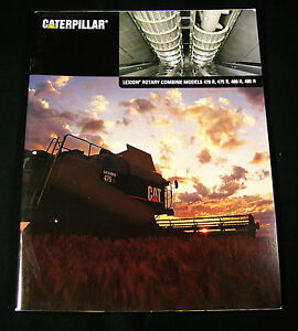 CATERPILLAR-CAT-Lexion-Combine-470R-475R-480R-Tractor-Advertising-Sale-Brochure