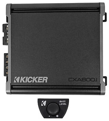 KICKER 46CXA8001 CXA800.1 800ワットモノラルクラスDカーアンプAmp + Bassノブ