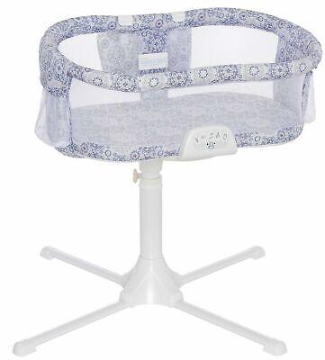HALO Bassinest Swivel Sleeper Bassinet Luxe Infant Baby Crib Blue Medallion New