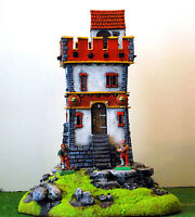 Warhammer Age Of Sigmar War Game Scenary ,watch Tower Of Mordheim, Pro Painted - sigma - ebay.it