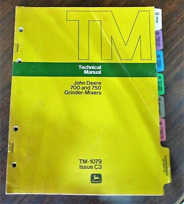 John Deere 700 and 750 Grinder-Mixers TM-1079 Technical Manual 1973