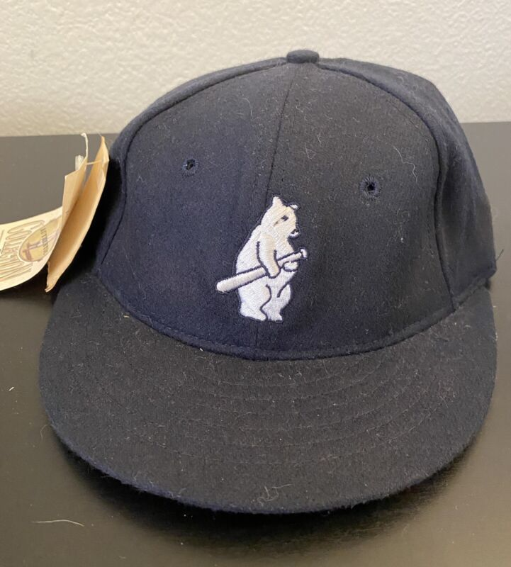 New 1914 CHICAGO CUBS 100% Wool THROWBACK Baseball Cap Fitted Size 7 Hat