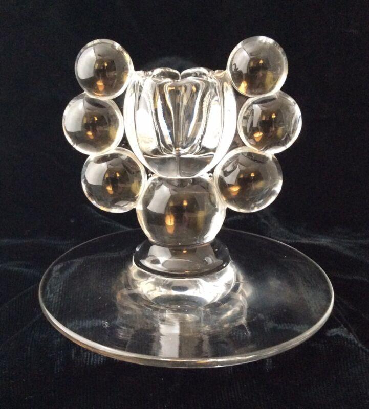 Antique Vintage Art Deco Bubble Glass Candlestick Candle Holder 1920/30