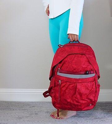 EUC Lululemon Pack It Up Backpack 🎒 Ziggi Snake Red Tide Cranberry