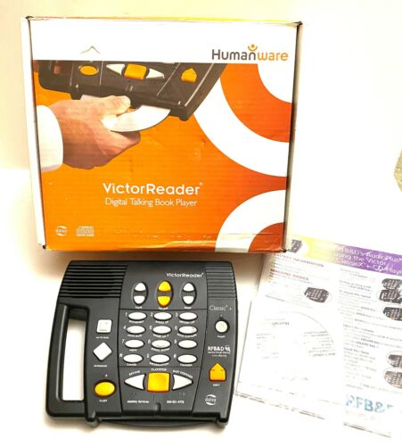 HumanWare Victor Reader Digital Talking Book Player - Tested/Works w/ BOX - CD