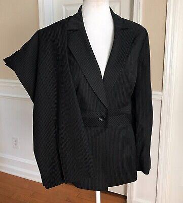 LIZ CLAIBORNE Women 2 PC Black Striped Pant Suit Size 16