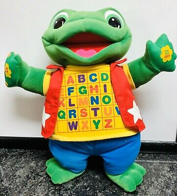 Little Leap Interactive ABC Learning Frog Plush Toy Sing Read Learning LeapFrog