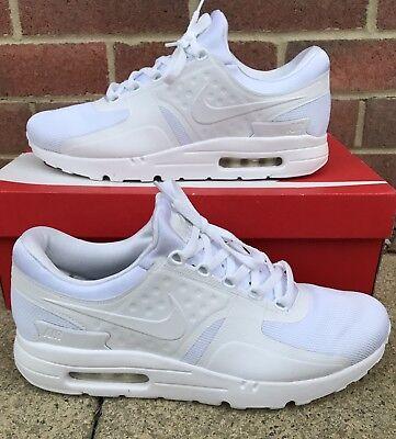 Nike Air Max Zero Mens Lifestyle Running Gym Trainers - UK 11 - White / Platinum