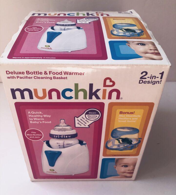 Munchkin Deluxe Bottle & Food Warmer W/pacifier Cleaning Basket