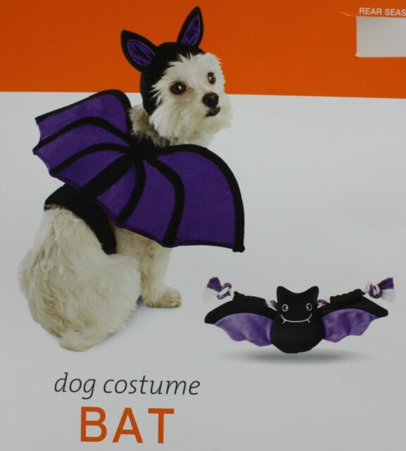 halloween black u0026 purple bat pet dog costume size medium lbs 14