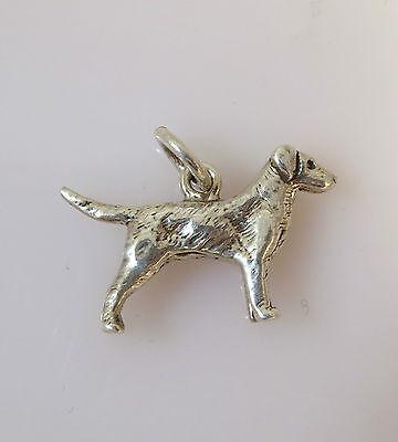 .925 Sterling Silver 3-D GOLDEN RETRIEVER CHARM NEW Pendant Dog Breed 925 DG15 3d Golden Retriever Charm