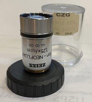 Zeiss Plan-neofluar 1.25x Microscope Objective Rms Part 44 03 00 440300