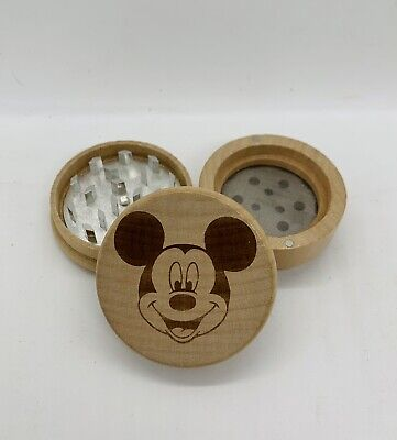 Mickey mouse laser engraved high quality wood kitchen herb grinder pop gift