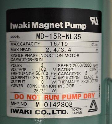 New Iwaki Magnet Pump Md-15r-nl35 1619 Lmin W 12 Hose Connections Quantity