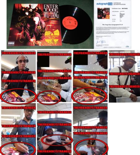 "WU TANG CLAN signed ""36 CHAMBERS"" ALBUM - EXACT PROOF  x7 RAEKWON Ghostface ACOA"