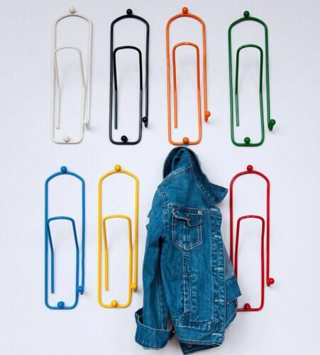 Design Kleiderhaken Garderobehaken Wandhaken Haken Metall Kinder Bunt Büro Wand