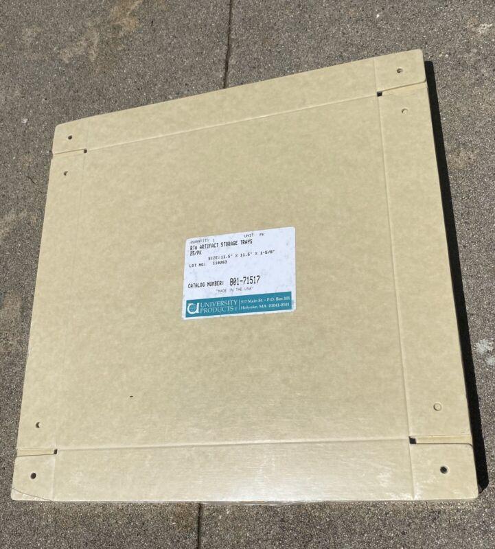 25 Archival Artifact Art Ephemera Specimen Storage Trays Sealed Acid-free