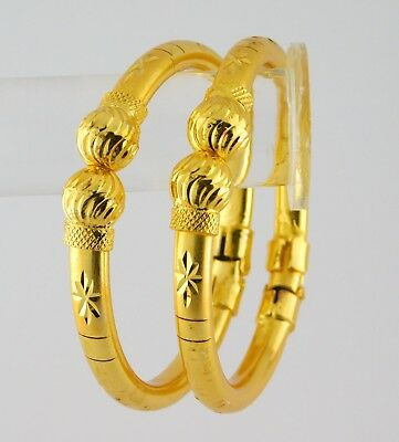 Indian Gold Jewelry - Indian Traditional Ethnic 18K Gold plated Bangle Set Women Bracelet Jewelry