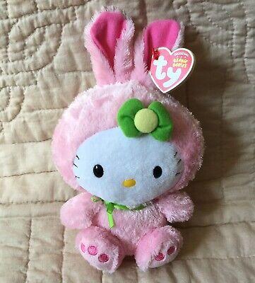 Hello Kitty Bunny Rabbit Costume Pink Green Flower Bow Beanie Babies Sanrio - Infant Hello Kitty Costume
